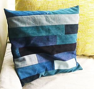 Strip Quilted Pillow